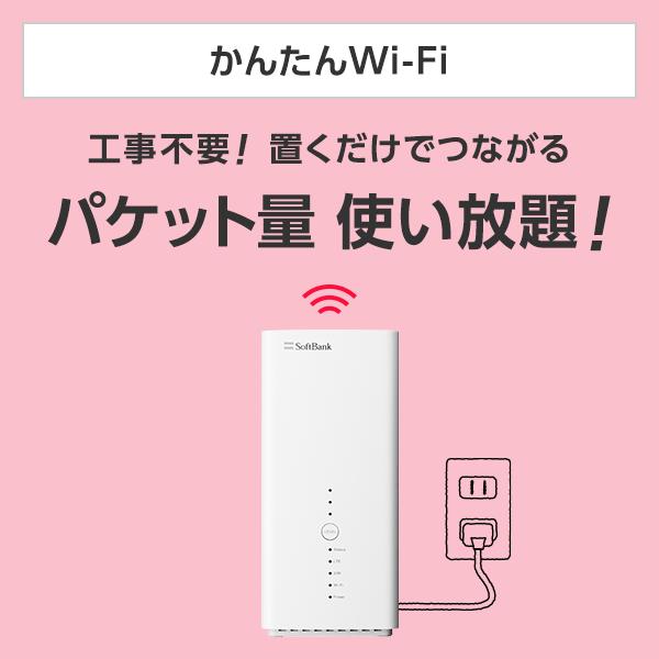 かんたんWi-Fi工事不要!置くだけでつながるパケット量使い放題!