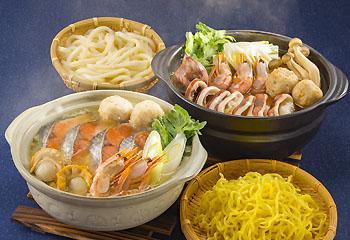北海道「石狩鍋」「海鮮えび鍋」セット