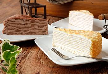 北海道の美味しさたっぷりミルクレープ3種