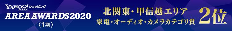 北関東・甲信越エリア家電・オーディオ・カメラカテゴリ賞2位