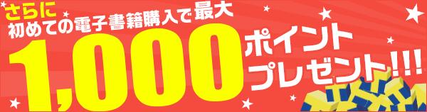 初めてのご購入金額分に応じて最大1000ポイントプレゼント