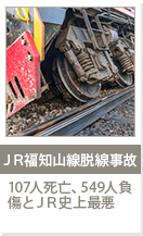 JR福知山線脱線事故 107人死亡、549人負傷とJR史上最悪