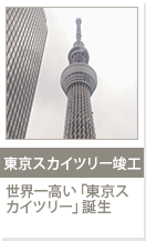 東京スカイツリー竣工 世界一高い「東京スカイツリー」誕生