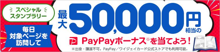 「スペシャルスタンプラリー」毎日対象ページを訪問して最大50,000円相当のPayPayボーナスを当てよう