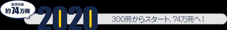 2020 300冊からスタート、74万冊へ! 配信冊数約74万冊