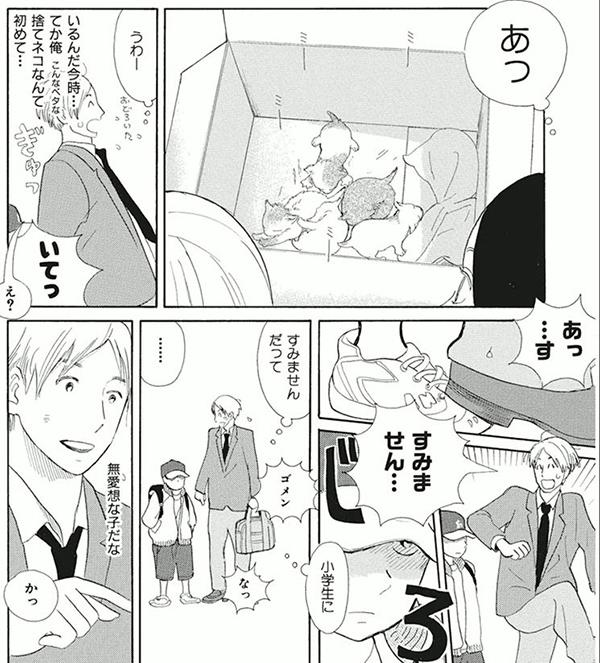 漫画『猫が箱の中』コマ