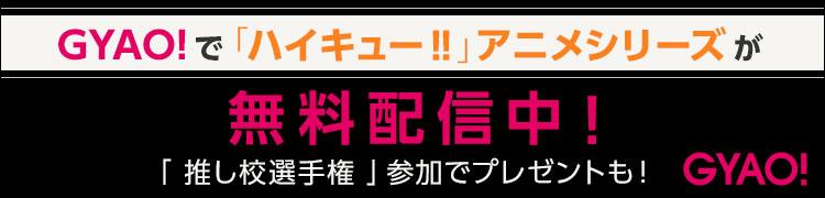 GYAOで「ハイキュー!!」アニメシリーズが無料配信中!「推し校選手権」参加でプレゼントも!