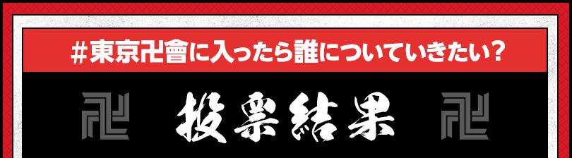 東京卍會に入ったら誰についていきたい?投票結果
