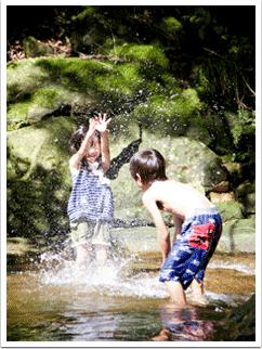 楽しかった川遊び