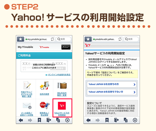 STEP2 Yahoo!サービスの利用開始設定