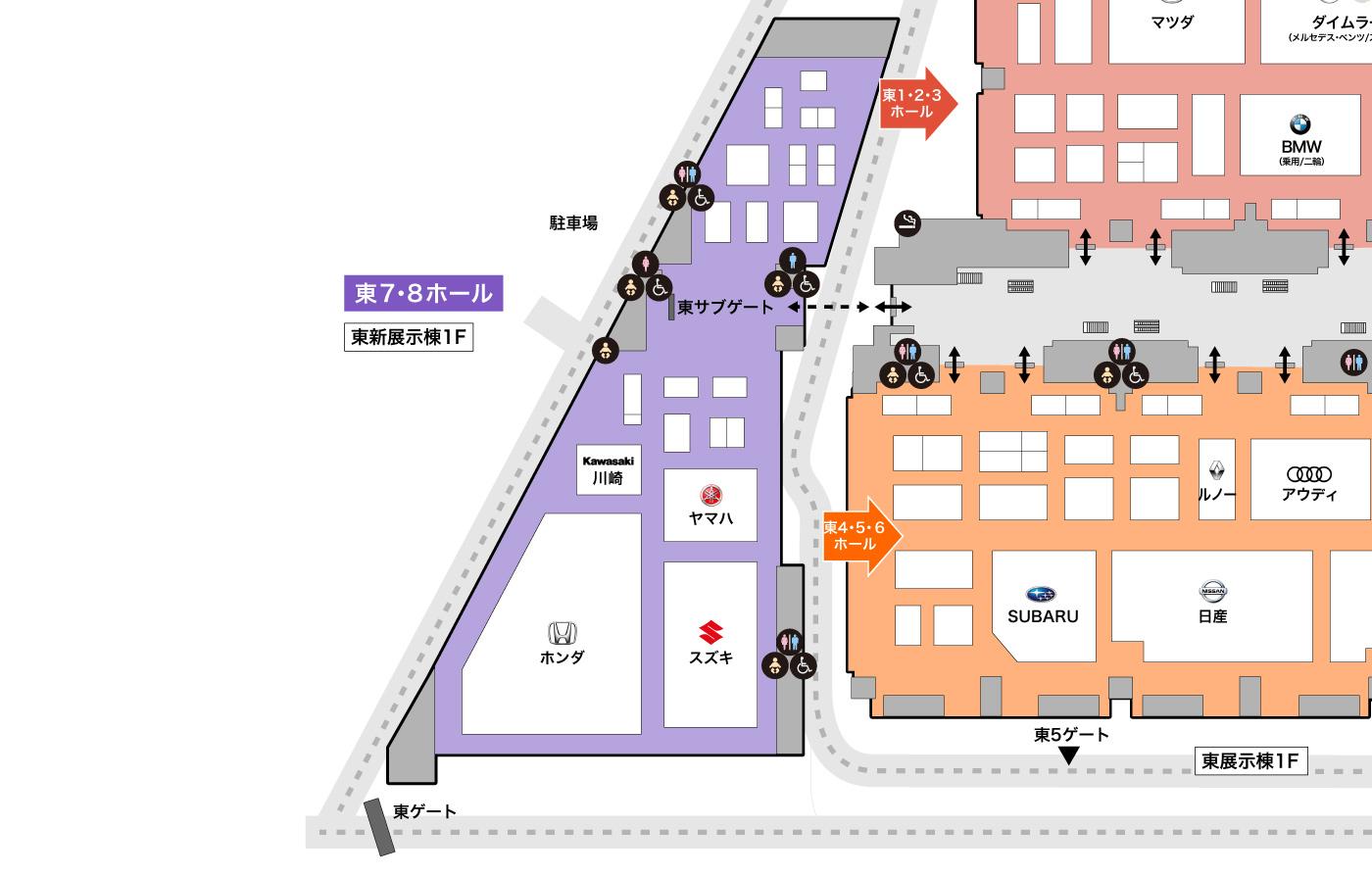 東7,8ホール詳細マップ