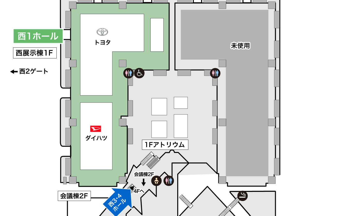 西1ホール詳細マップ