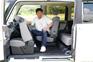 最大540mmのこれまでにない運転席ロングスライドシートによって運転席から後席へのスムーズな車内移動や、運転席に座った状態での後席へのアクセスなど、まったく新しい動線を実現した。助手席も380mmのロングスライドが可能。