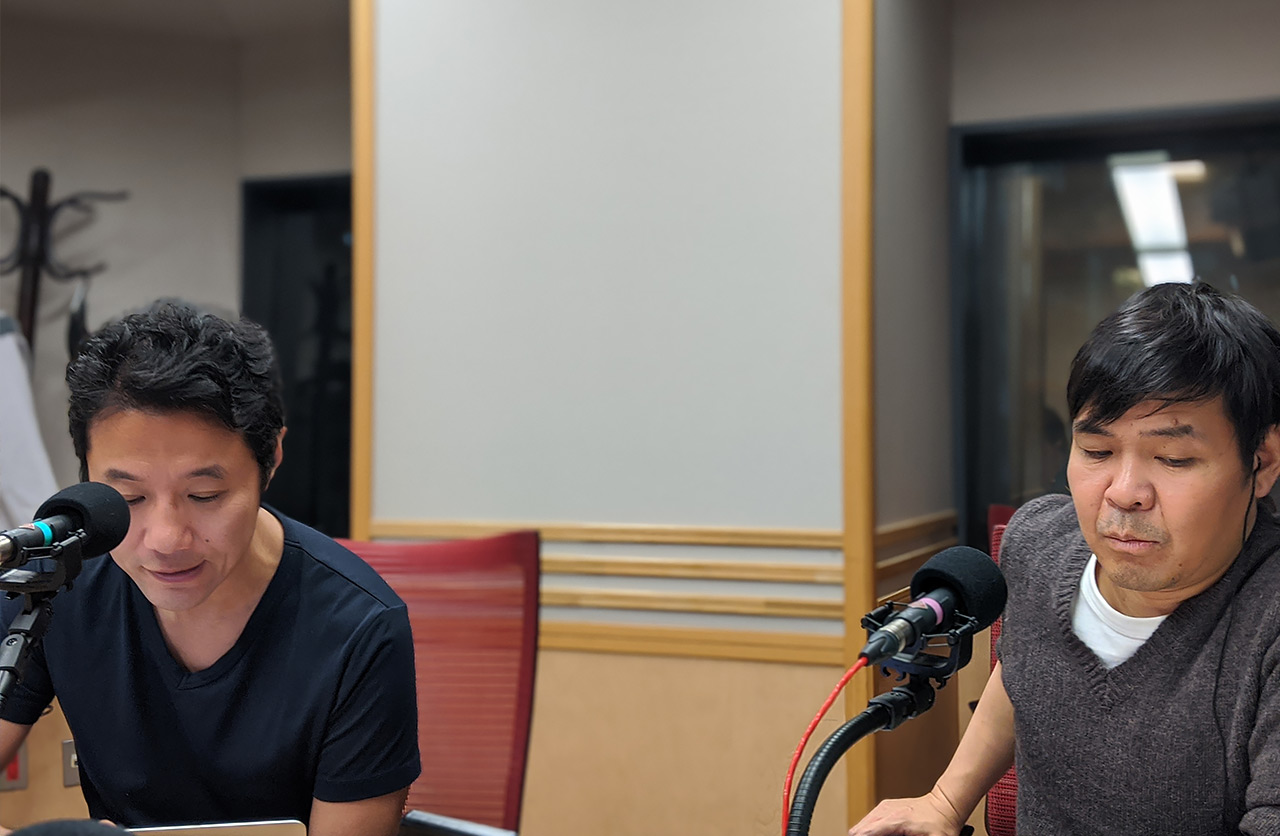 右は文化放送の砂山圭太郎アナウンサー