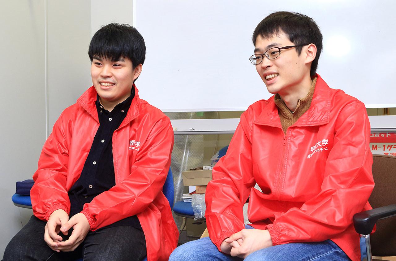 原口和貴さん(左)と青木哲さん(右)