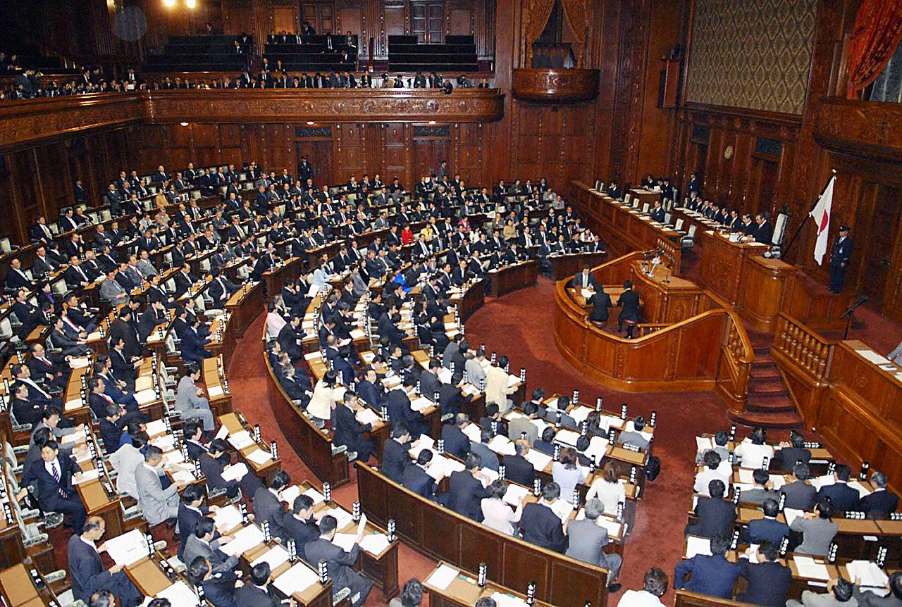 国会議事堂内にある衆院の議場