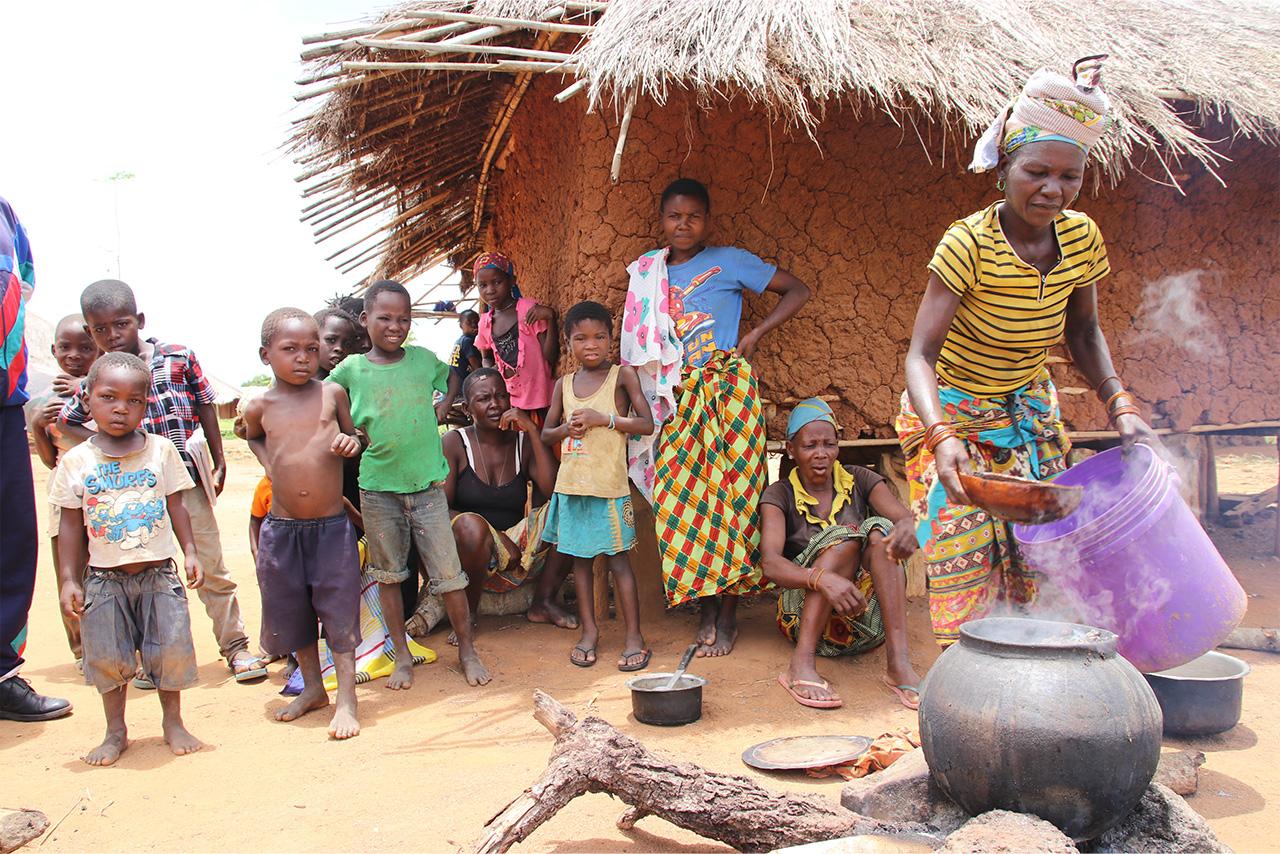 合田さんが活動するモザンビークのカーボ・デルガド州にある農村