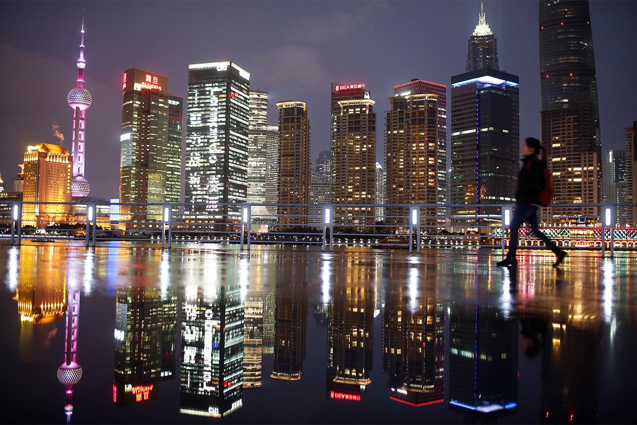 中国・上海の夜景