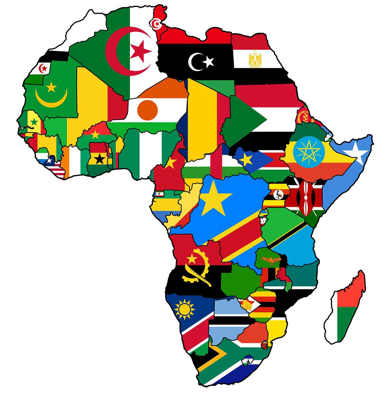 50を超える国・地域があるアフリカ