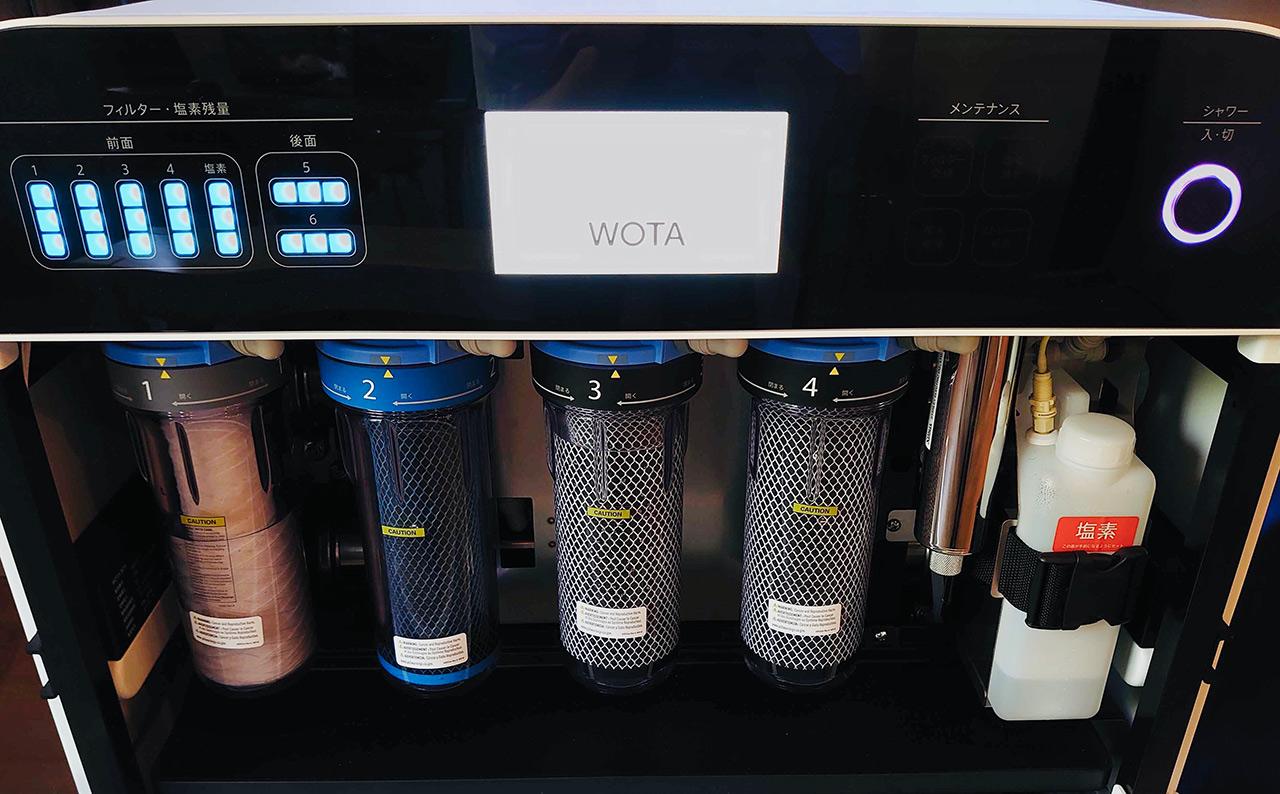 WOTA BOX内に設置されているフィルター