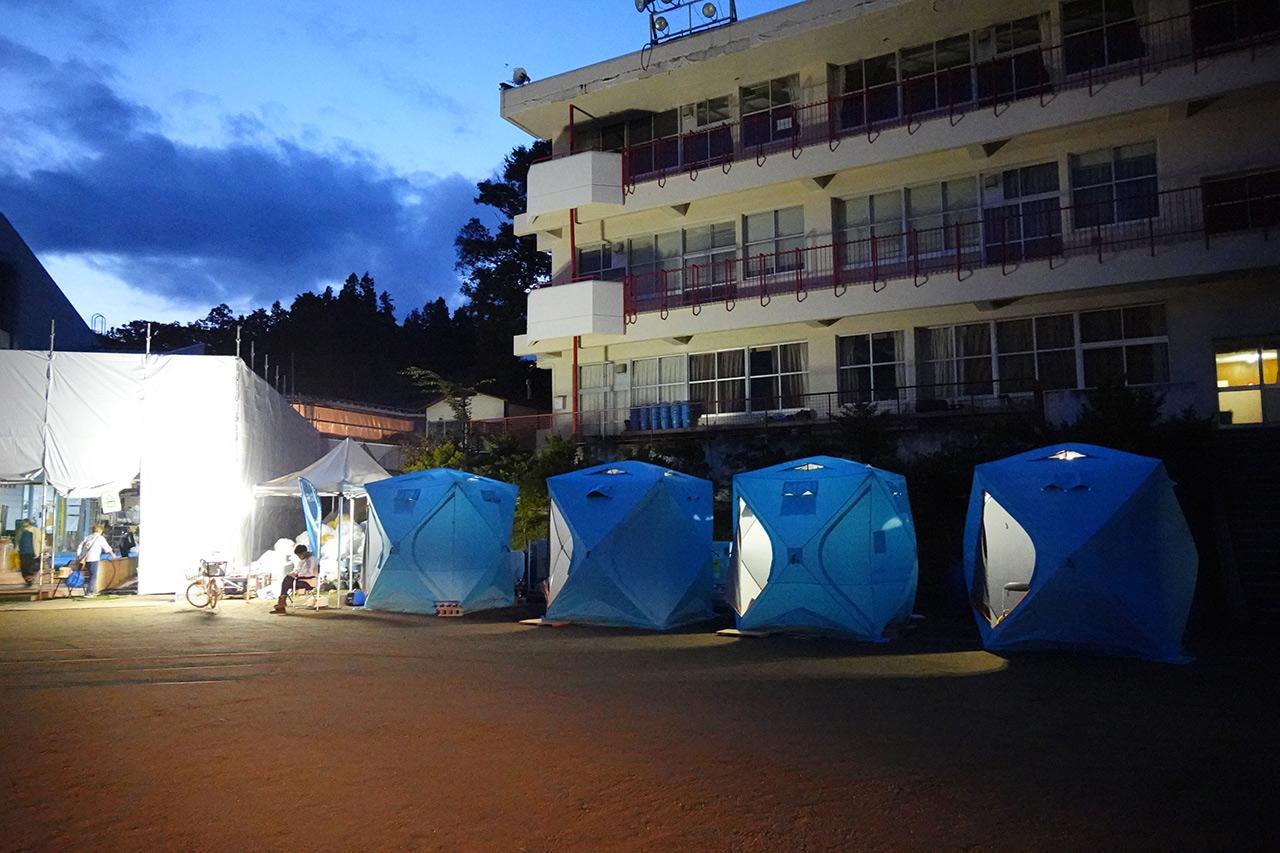 長野市全域に設置したWOTA BOX、屋外シャワーキット