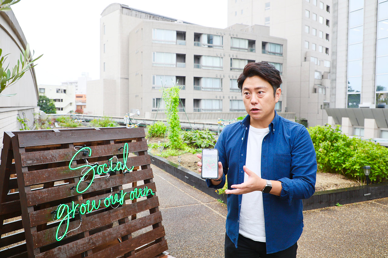 プランティオ株式会社の芹澤孝悦代表。「grow FILED EBISU PRIME」にて。