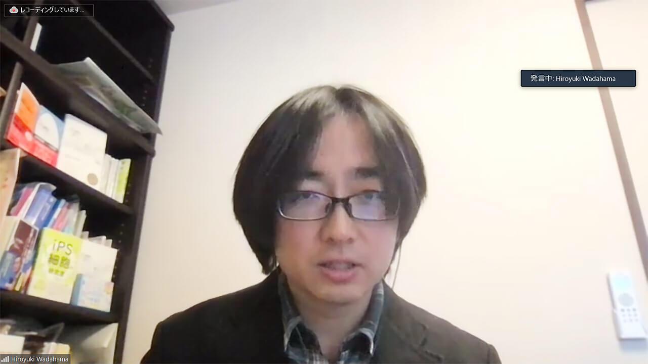 (zoomのインタビュー取材に答える和田濵裕之氏)