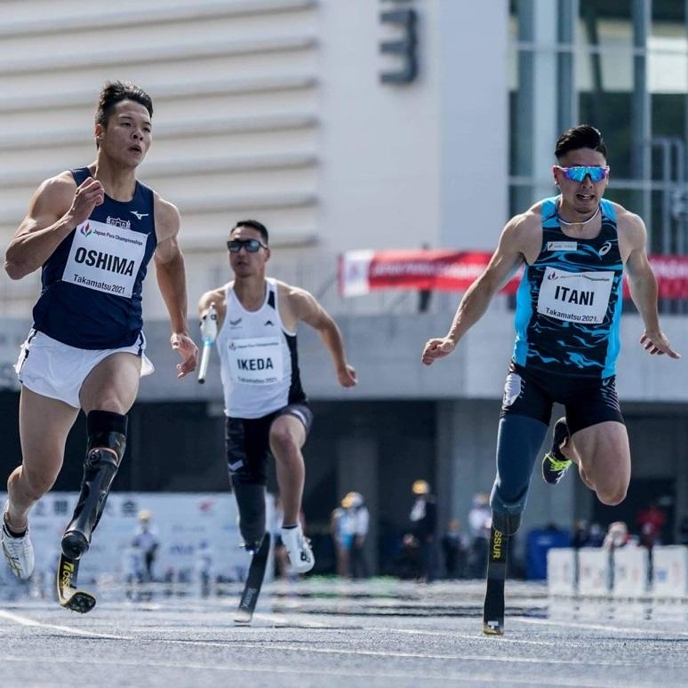 花形の100メートルで白熱のレース。急成長の大学生・大島健吾がアジア記録!~2021ジャパンパラ陸上競技大会~