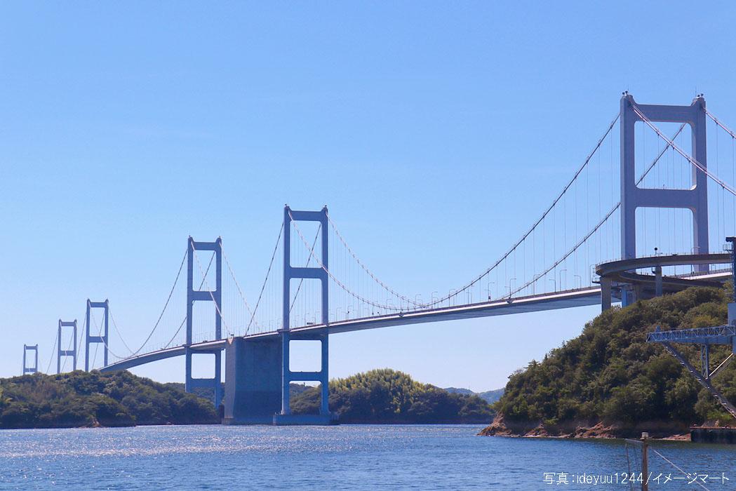 今治市より望むしまなみ海道