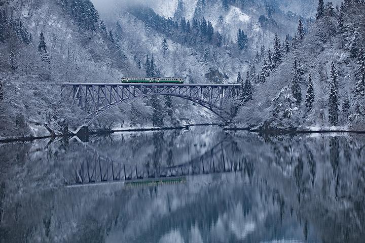 三島町の第一只見川橋梁の風景 写真:peisama/イメージマート