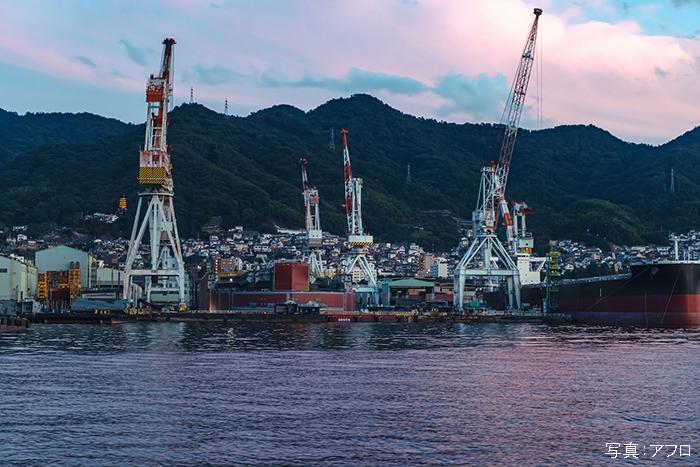 造船業が盛んな呉市