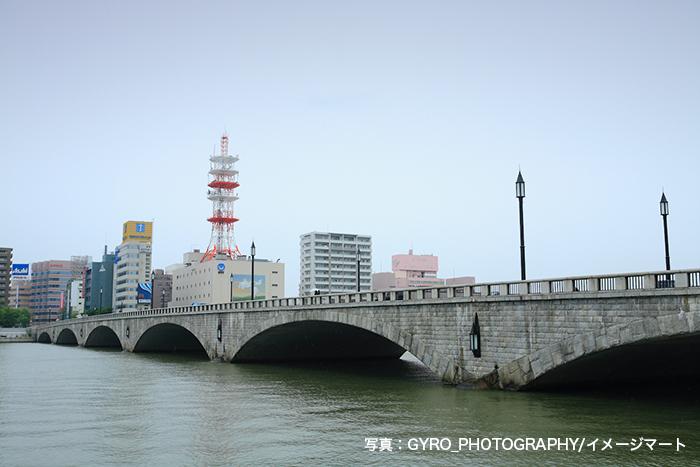 新潟市にある萬代橋