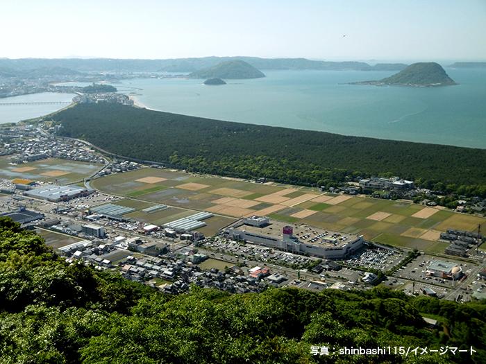 日本最大松原「虹の松原」風景