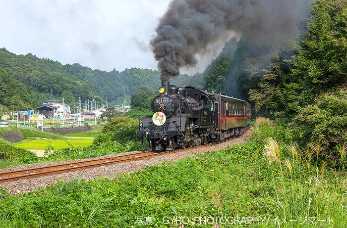 聖火リレーと併走する予定の真岡鐵道の「SLもおか」