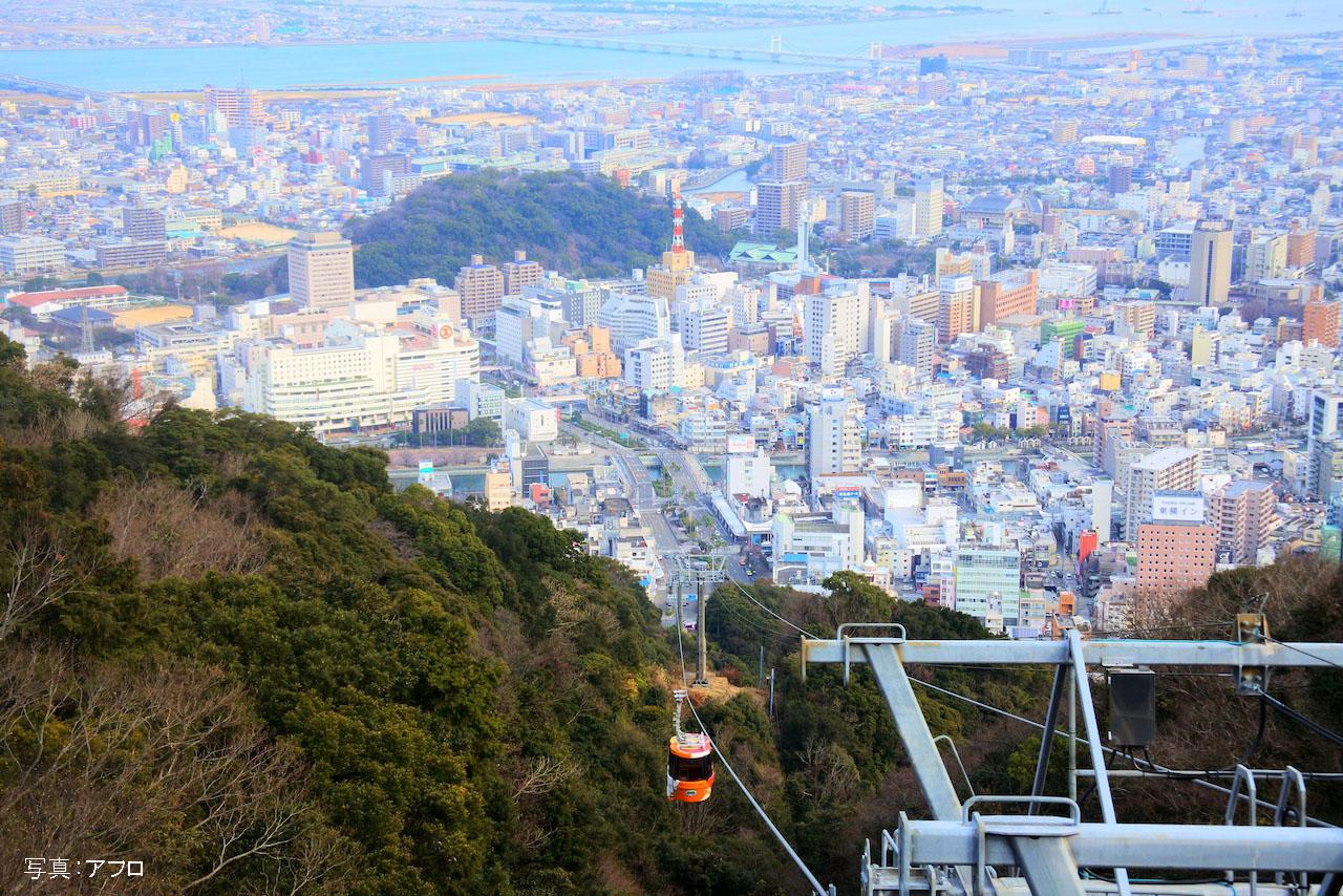 眉山から見た徳島市の風景