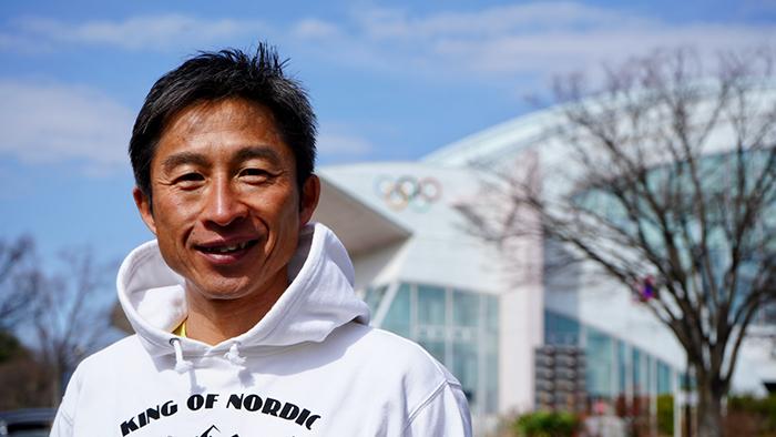 長野五輪が開催された長野運動公園でインタビューに答えてくれた