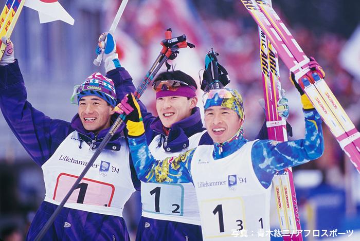 リレハンメル五輪ノルディック複合団体で2大会連続の金メダルを獲得