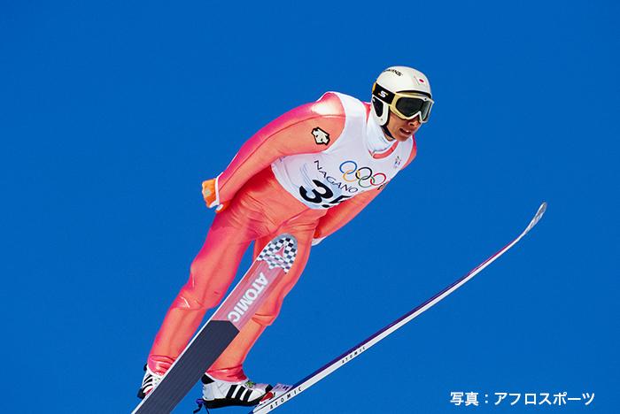 長野五輪は日本選手団の主将として出場した