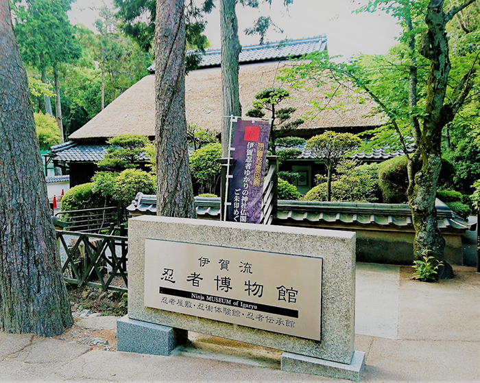 渡邉さんをはじめとする忍者ショーが見られる伊賀流忍者博物館