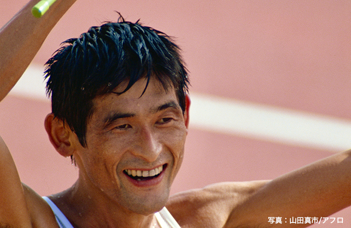 1991年世界陸上選手権大会で金メダルを獲得した谷口浩美さん