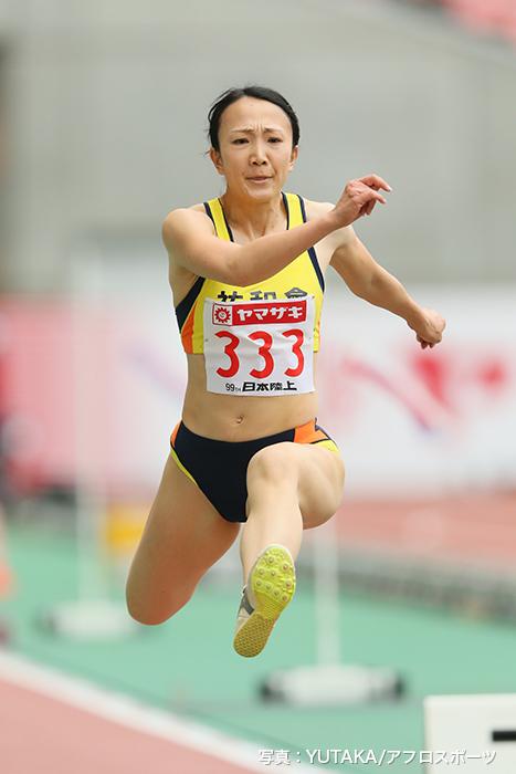 2015年に中尾さんは陸上日本選手権女子三段跳で優勝