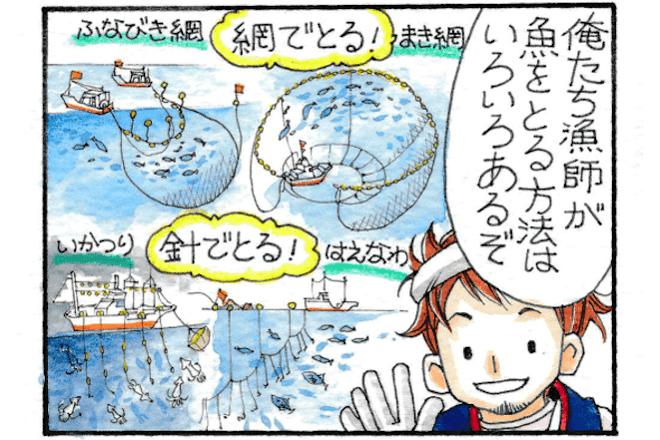 【漫画でわかる】日本の魚の資源管理 第1話「網目拡大」