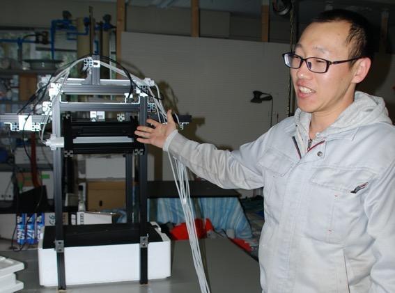 映像から漁獲物の大きさを調べられる水産大学校の機器