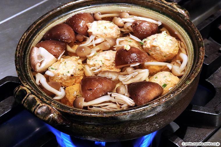 塩鮭を使ったつみれ鍋