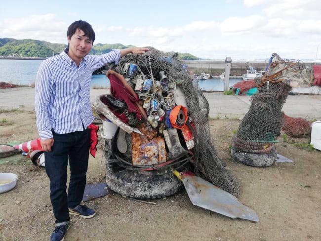 海ゴミでゴミアート