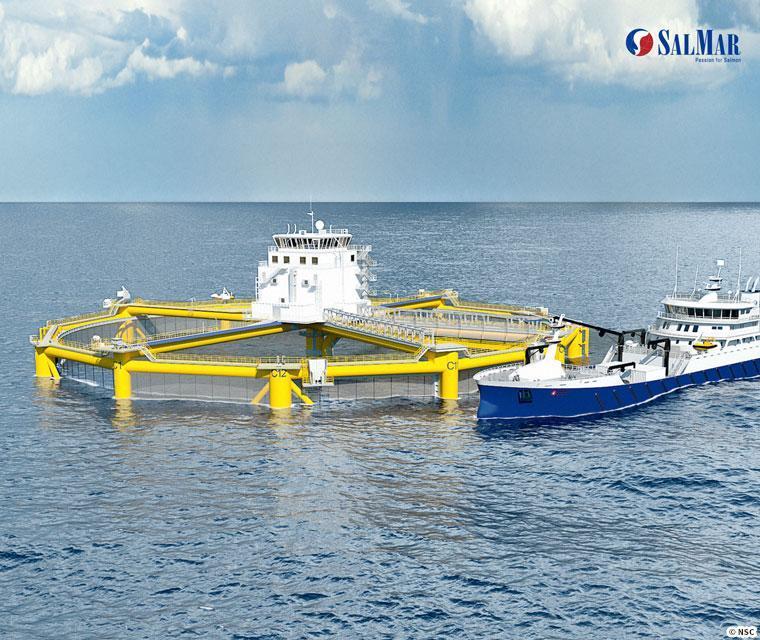 石油採掘技術を応用した沖合設置型の養殖場