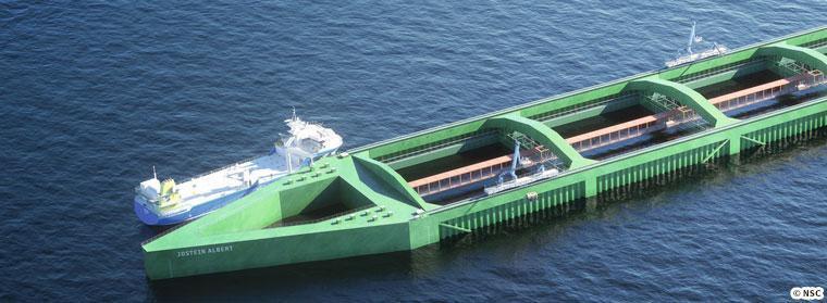 巨大ないけすを持つ船