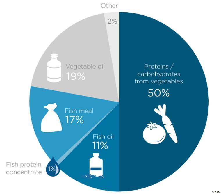 餌の割合を示すグラフ