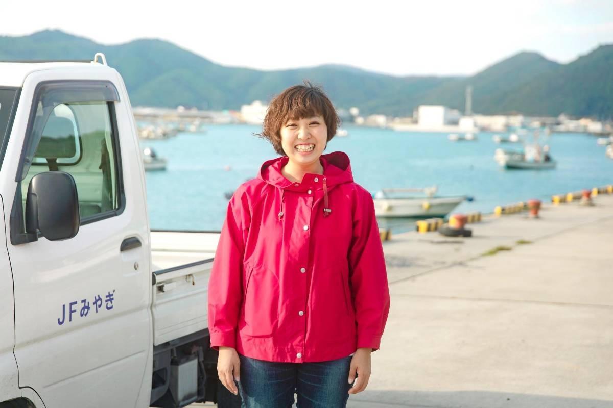 フィッシャーマン・ジャパンの事務局スタッフとして働く、島本幸奈さん