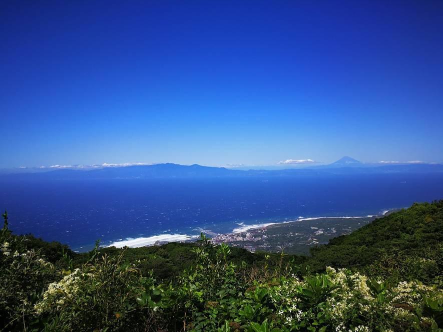 山から見下ろす海の風景